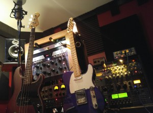 A view from the 'cockpit' - this is what one of my personal recording sessions looks like.